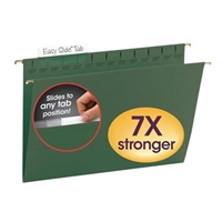 Smead Standard Green TUFF Hanging Folders with Easy Slide Tab (64136)