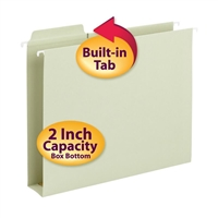 Smead FasTab Hanging Box Bottom Folders Moss 20/Box (64201)
