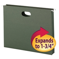 "Smead Hanging File Pocket, 1-3/4"" Exp, Letter, Standard Green (64218)"