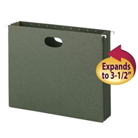Smead Hanging File Pockets, 3-1/2 Inch Expansion, Letter Size (64220)