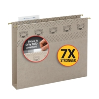 Smead TUFF Hanging Box Bottom Folder with Easy Slide, Gray (64240)