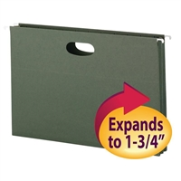 "Smead Hanging File Pocket, 1-3/4"" Exp., Legal, Standard Green (64318)"