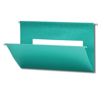 Smead Hanging File Folder, Legal Size, Aqua, 25/Bx (64475)