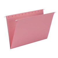 Smead Hanging File Folder, Legal Size, Dk Pink, 25/Bx (64479)