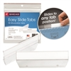 Smead Easy Slide Tab, 1/3-Cut, Clear, 18 Per Pack (64626)
