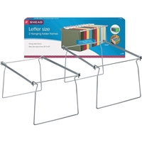 Smead Steel Hanging File Folder Frames, Letter Size, Gray, 2/Pk (64870)