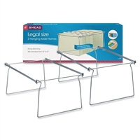 Smead Steel Hanging File Folder Frames, Legal Size, Gray, 2/Pk (64873)