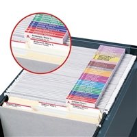 Smead Viewables Premium 3D Hanging Folder Tabs & Labels, 100/Pk (64910)