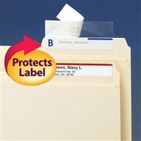 Smead Label Protector 3-1/2 x 1-11/16 Clear 100/PK (67600)