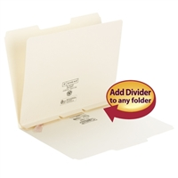 Smead Self-Adhesive Folder Divider, Side Flap Style, Letter (68021)
