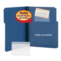 Smead Self-Adhesive Poly Pockets, Index Card Size, 100/Box (68153)