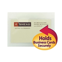 Smead Self-Adhesive Poly Pocket, Business Card Size, Clear, (68155)