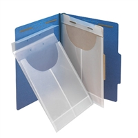 "Smead 68191 Poly Retention Jackets, 9""W x 14""H, 3/4"" Capacity, Clear, 24/Bx"
