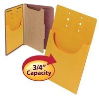 "Smead 68196 Kraft Retention Jackets, 9""W x 14""H, 3/4"" Capacity, Kraft, 100/Bx"