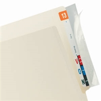 Tabbies Full End Tab Protector 8 x 2 Clear 100/PK (68386)