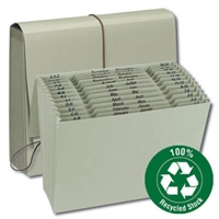 Smead 100% Recycled Green Expanding File Multi-Indexed (70778)