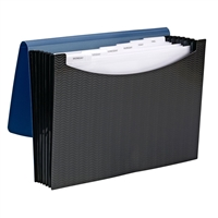 Smead Poly Expanding Files - 7 Pockets - Blue/Black