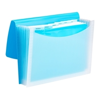 Smead Poly Expanding Files - 7 Pockets - Teal/Clear