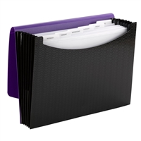 Smead Poly Expanding Files - 7 Pockets - Purple/Black