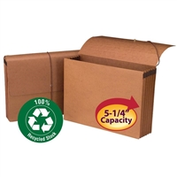 "Smead 100% Recycled Wallet, 5-1/4"" Exp, Flap/Closure, 10/Box (71199)"