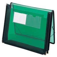 "Smead Poly Wallet, 2-1/4"" Expansion, Letter Size, Green (71951)"