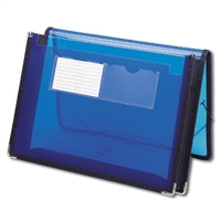 "Smead Poly Wallet, 2-1/4"" Expansion, Letter Size, Blue (71953)"