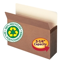 "Smead 100% Recycled File Pocket 5-1/4"" Exp Letter Redrope (73206)"