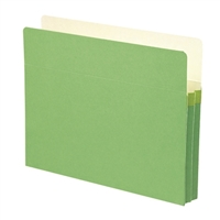 "Smead File Pocket Straight-Cut Tab 1-3/4"" Exp Green (73216)"