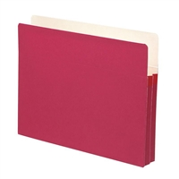 "Smead File Pocket Straight-Cut Tab 1-3/4"" Exp Red (73221)"