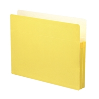 "Smead File Pocket Straight-Cut Tab 1-3/4"" Exp Yellow (73223)"
