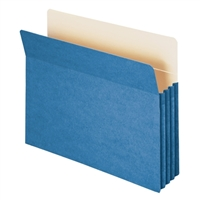 "Smead File Pocket Straight-Cut Tab 3-1/2"" Exp Blue (73225)"