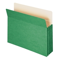 "Smead File Pocket Straight-Cut Tab 3-1/2"" Exp Green (73226)"
