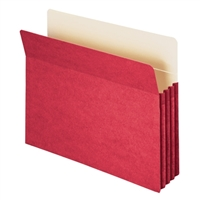 "Smead File Pocket Straight-Cut Tab 3-1/2"" Exp Red (73231)"