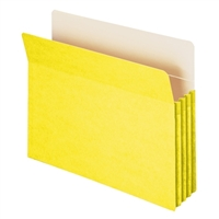 "Smead File Pocket Straight-Cut Tab 3-1/2"" Exp Yellow (73233)"