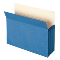 "Smead File Pocket Straight-Cut Tab 5-1/4"" Exp Letter Blue (73235)"