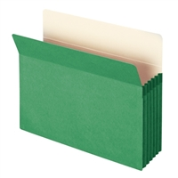 "Smead File Pocket Straight-Cut Tab 5-1/4"" Exp Letter Green (73236)"