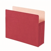 "Smead File Pocket Straight-Cut Tab 5-1/4"" Exp Letter Red (73241)"