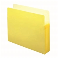 "Smead File Pocket Straight-Cut Tab 5-1/4"" Exp Letter Yellow (73243)"