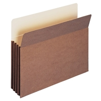 "Smead TUFF Pocket File Pocket 3-1/2"" Exp Letter Redrope (73380)"