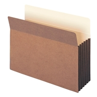 "Smead TUFF Pocket File Pocket 5-1/4"" Exp Letter Redrope (73390)"
