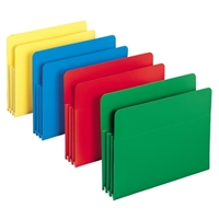 Smead Poly File Pockets Letter Size 4/Pack (73500)
