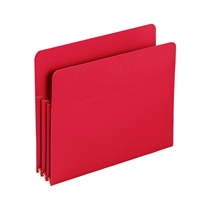 "Smead Red Poly File Pockets Straight-Cut Tab 3-1/2"" Exp (73501)"