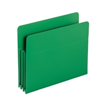 "Smead Green Poly File Pockets Straight-Cut Tab 3-1/2"" Exp (73502)"