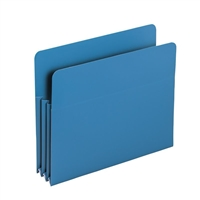 "Smead Blue Poly File Pockets Straight-Cut Tab 3-1/2"" Exp (73503)"