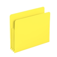 "Smead Yellow Poly File Pockets Straight-Cut Tab 3-1/2"" Exp (73504)"