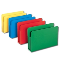 "Smead Poly File Pockets Straight-Cut 3-1/2"" Exp Legal (73550)"