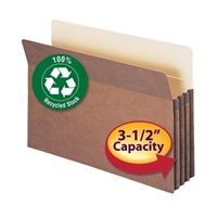 "Smead 100% Recycled File Pocket Straight-Cut Tab 3-1/2"" Exp (74205)"