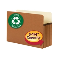 "Smead 100% Recycled File Pocket 5-1/4"" Exp Legal (74206)"