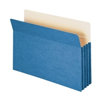 "Smead File Pocket Straight-Cut Tab 3-1/2"" Exp Legal Blue (74225)"