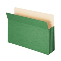 "Smead File Pocket Straight-Cut Tab 3-1/2"" Exp Legal Green (74226)"